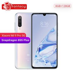 Original xiao mi 9 pro mi 9 pro (5g) 8 gb 128 gb smartphone snapdragon 855 plus 48mp triplo câmeras do telefone móvel 4000 mah bateria