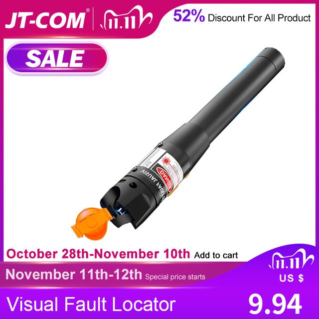 10 Mw Visual Fault Locator 30 Mw/20 Mw/10 Mw/1 Mw Glasvezelkabel Tester 5Km 10Km 30Km Vfl Gratis Verzending