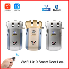 Wafu 019 Fringerprint Lock Tuya/Smart Life Wifi serratura Password serrature telecomando Bluetooth Smart lock invisibile