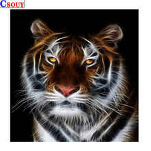Animal 5D Diy Diamond Mosaic Tiger Diamond Painting Drawing Full Square / Round Drill Diamond Embroidery Cross Stitch Home Decor mooncresin diamond painting cross stitch comfortable tiger animal diy diamond embroidery full round 5d diamond mosaic decoration