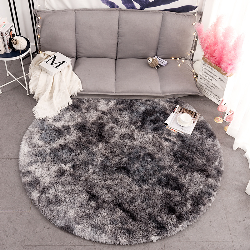Motley Plush Round Carpets For Living Room Soft Anti-slip Shaggy Rug Home Decor Fluffy Carpet Bedroom Computer Chair Floor Mat