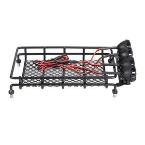 Dach Rack Gepäck Träger & Licht Bar für 1/10 Kurze-Natürlich Rally RC Auto Crawler HPI TAMIYA CC01 AXIAL SCX10 RC4WD D90 REDCAT