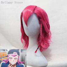 Anime Danganronpa V3 Kazuichi Souda Cosplay hairwear Style Short Shocking Pink Wig+Wig Cap