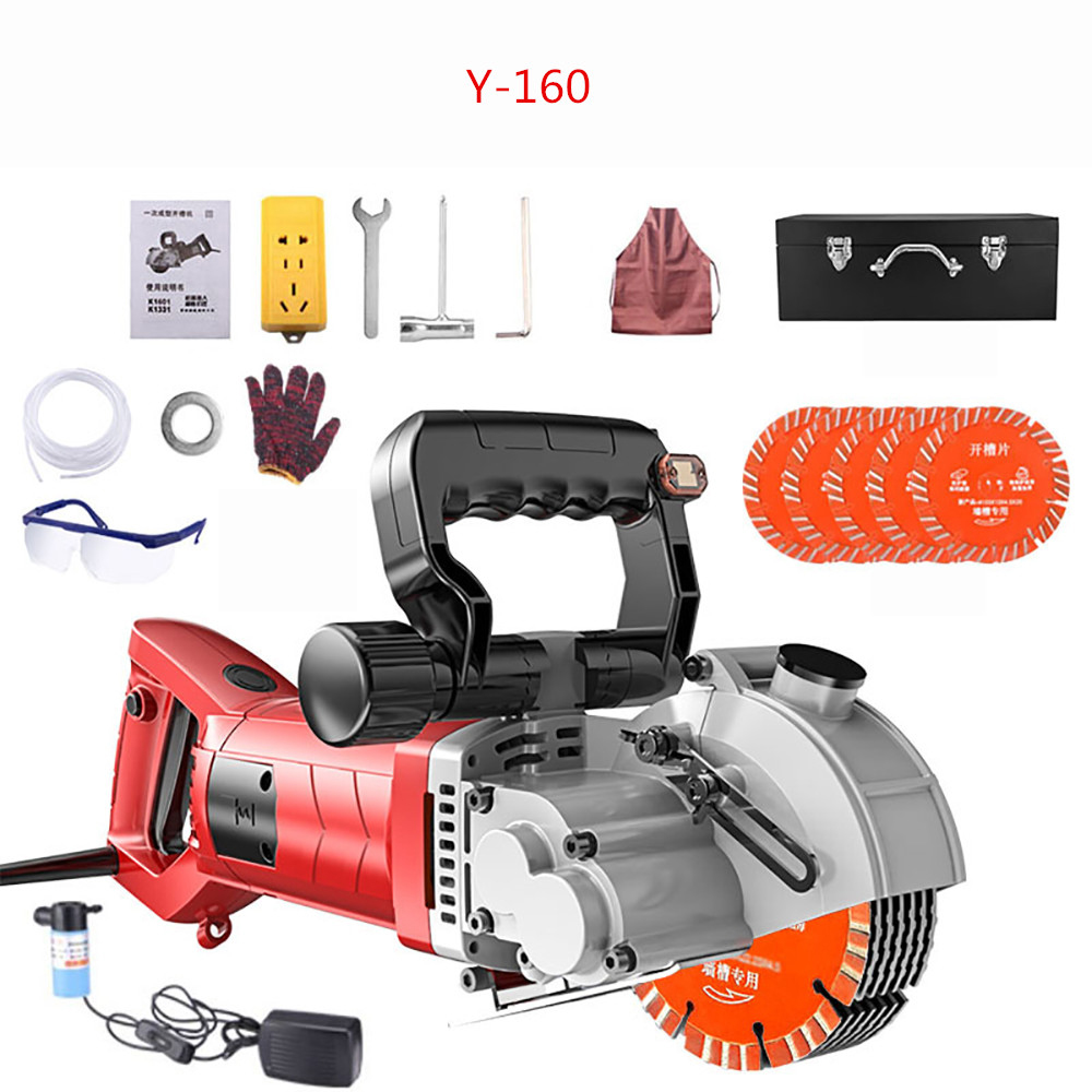 220V Hydropower Installation Electric Wall Chaser Concrete Wall Cutting Slotting Grooving Machine Y
