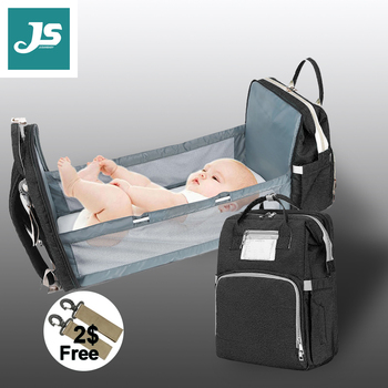 Jusanbaby Baby Bed Crib Diaper Bag Backpack For Mom Waterproof Lightwieght Expecting A Baby Fashion 2020 New