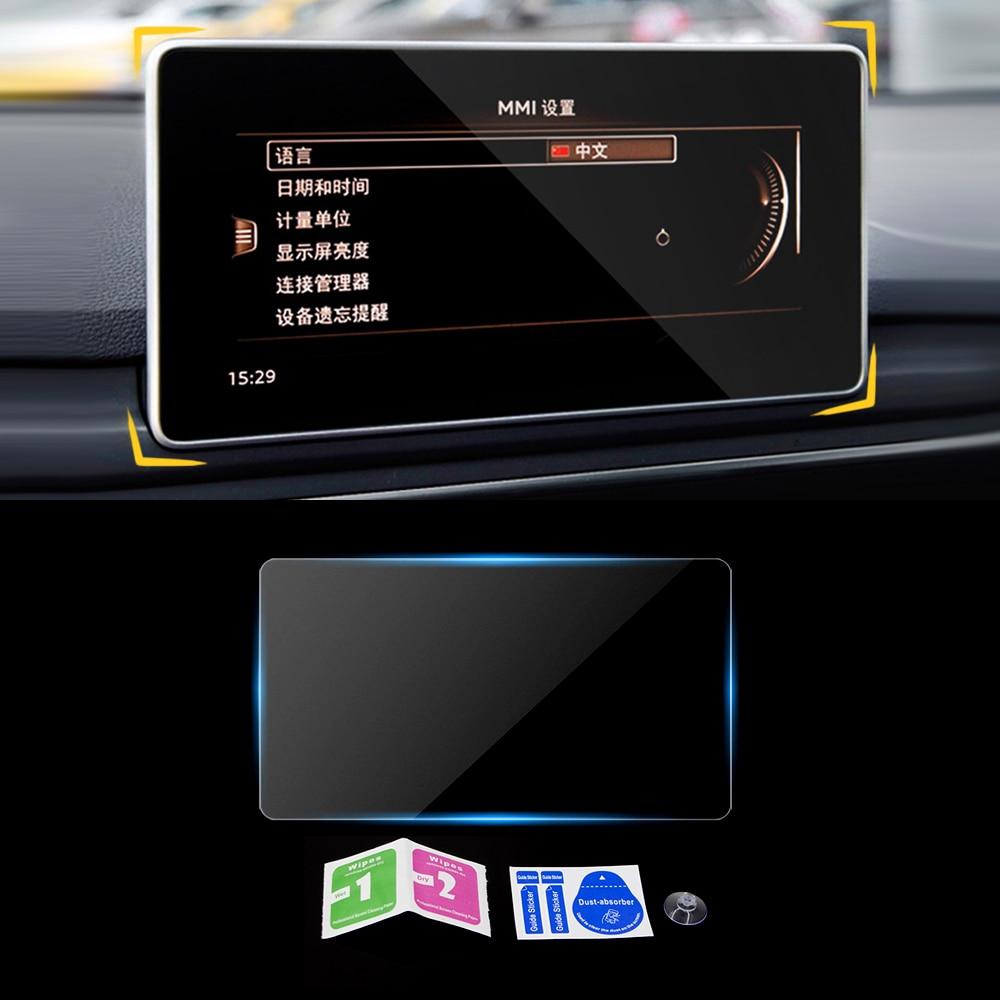 For Audi A4 B9 2015-2019 Car Navigation Dashboard Monitor Screen Protector Glass Film Cover Trim Sticker Interior Accessories