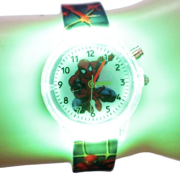 Hook Loop Band LED Watch Magic Kids Child Boys Girls Digital Wrist Watches Cartoon Style