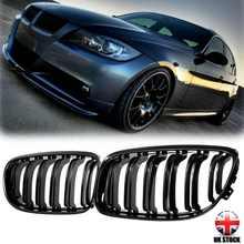 Grelhas de rim dianteira do carro gloss preto/estilo diamante para bmw e90 e91 3-series 2009 2010 2011 2012 2013 estilo do carro corridas grills