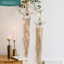Bohemian aesthetic room decor dream catcher wind chime nordic style wicker hanging decoration outside decoration yard garden