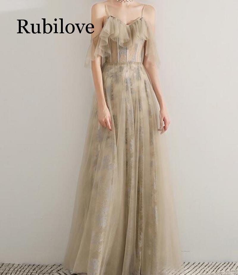 Rubilove Dresses skirts long paragraphs 2019 summer new dresses small slings banquet feast elegant