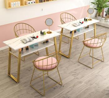 Stół do Manicure netto czerwony stół do malowania paznokci stół do malowania paznokci stół do malowania paznokci stół i krzesło zestaw tanie i dobre opinie Andessoer CN (pochodzenie) Salon mebli Stół paznokci Meble sklepowe