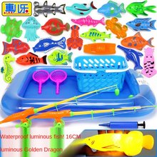 50pcs Children Magnetic Fishing Toy Set Suit Parent-Child Interactive Toys Game Play Water Baby Toy Gift Free Shipping GYH