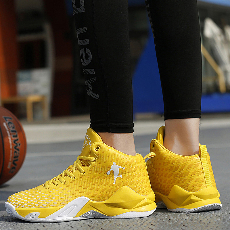 Women Shoes Men High Top Sneakers Casual Trainers Sports Male Black Platform Hot Sale Fashion Ladies Basketball Footwear Yellow