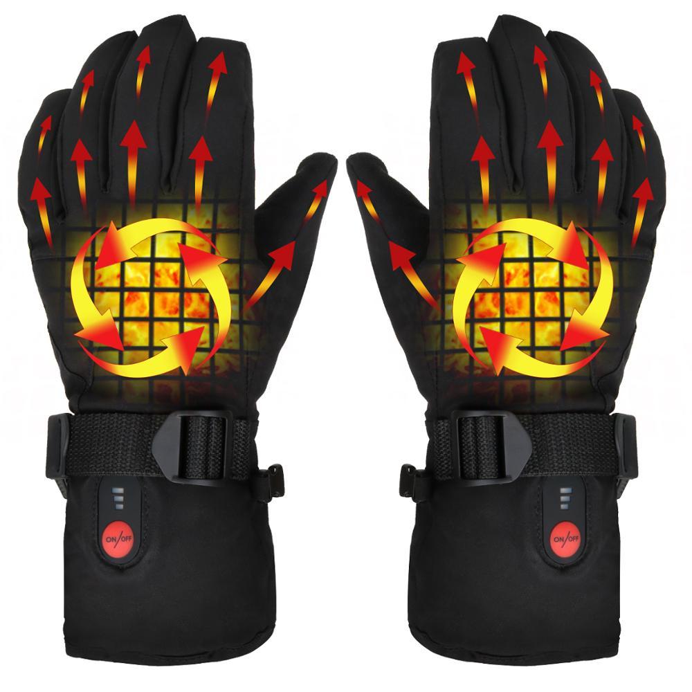 SAVIOR Heating Gloves 7.4V Battery Heating Winter Warm Gloves Outdoor Riding Ski Warm Gloves