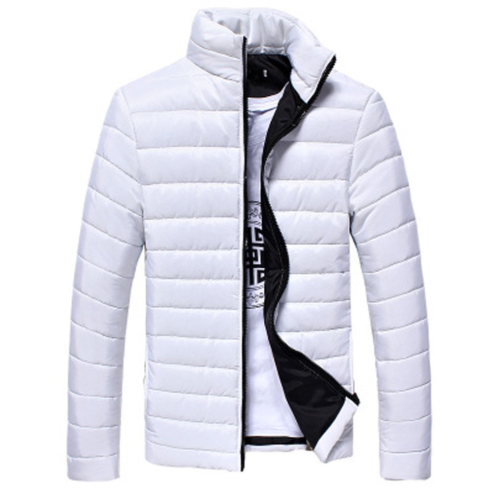 Fashion Jacket Men's Coat Winter Outwear Zip-Coat Collar Warm-Stand Casual Slim Boys