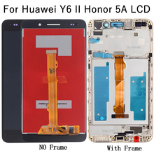 5.5'' LCD Display For Huawei Y6 II Honor 5A LCD Display Panel with Touch Screen Digitizer Assembly Frame Honor 5A LCD Screen for huawei u9508 honor 2 lcd screen display with black touch screen digitizer frame assembly by free shipping 100% warranty