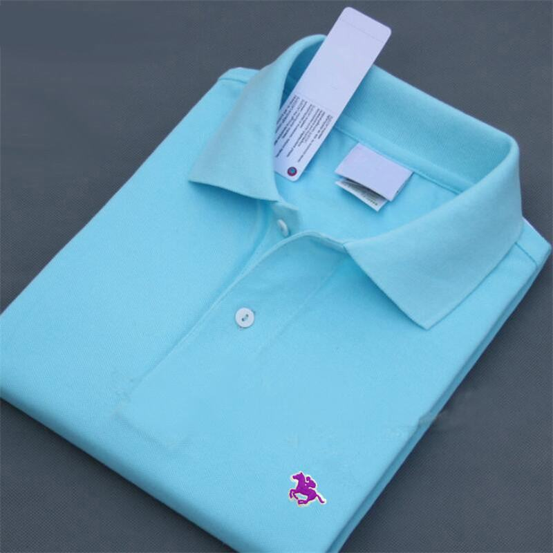 100% Cotton 2019 Summer New Men's short sleeve   polos   shirts casual solid color lapel mens   polos   shirts fashion XS-4XL male tops
