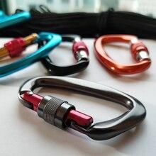 4 stücke Professionelle Klettern Karabiner 25KN D Form Klettern Schnalle Lock Sicherheit Lock Outdoor Klettern Ausrüstung Zubehör
