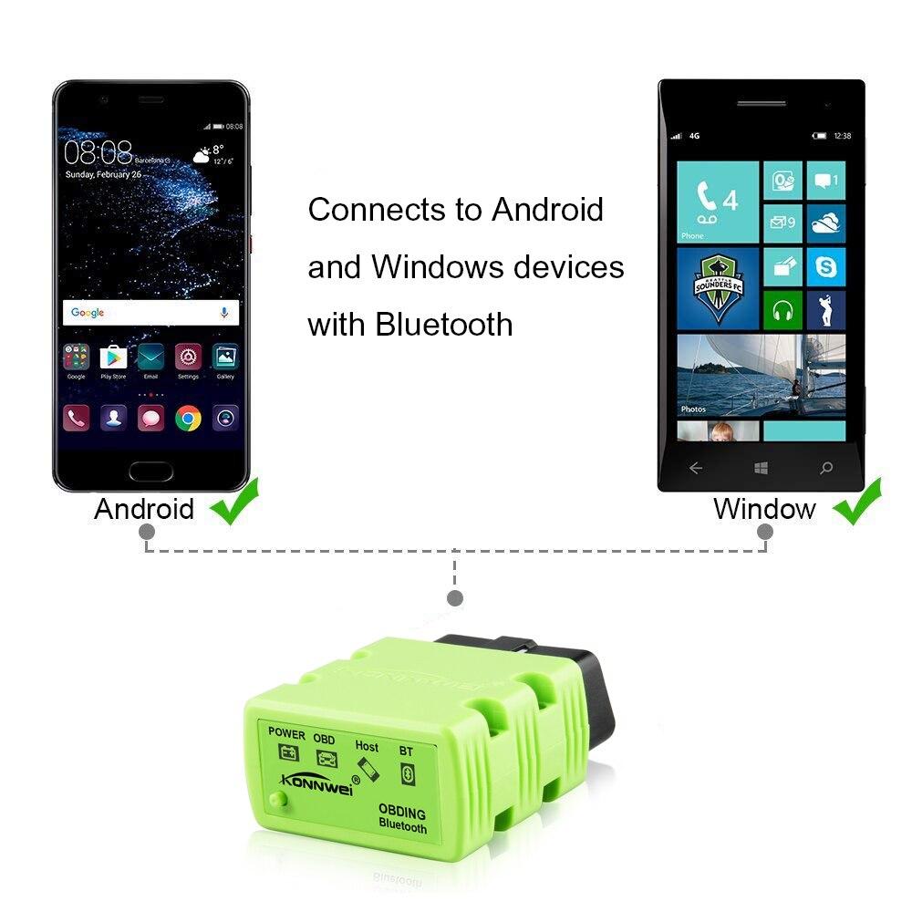 Image 2 - KONNWEI OBD2 Scanner KW902 ELM327 V1.5 Bluetooth Autoscanner PIC18f25k80 MINI ELM 327 OBDII KW902 Code Reader for Android Phone