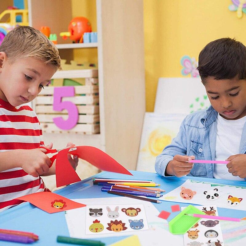 12 шт diy животные алмазная живопись наклейки для детей 5d вышивка