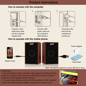 Image 5 - SADA AUX 3.5mm USB Wired Speakers Super Bass Wooden PC Speakers Mini Sound Box for Laptop Desktop Phone MP3 Music Player