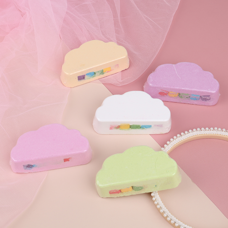 Rainbow Soap Cloud Bath Salt Moisturizing Exfoliating Cleaning Body Skin Bubble Bath Bombs Multicolor For Baby