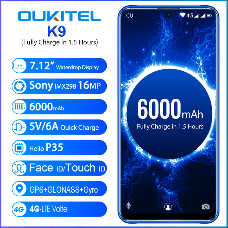 New K9 7.12 Inch 16 Million Pixels 4+64G Octa core Standard Support NFC Dual Card Dual Standby HD Ultra thin|Mobile Phone Touch Panel|   - AliExpress