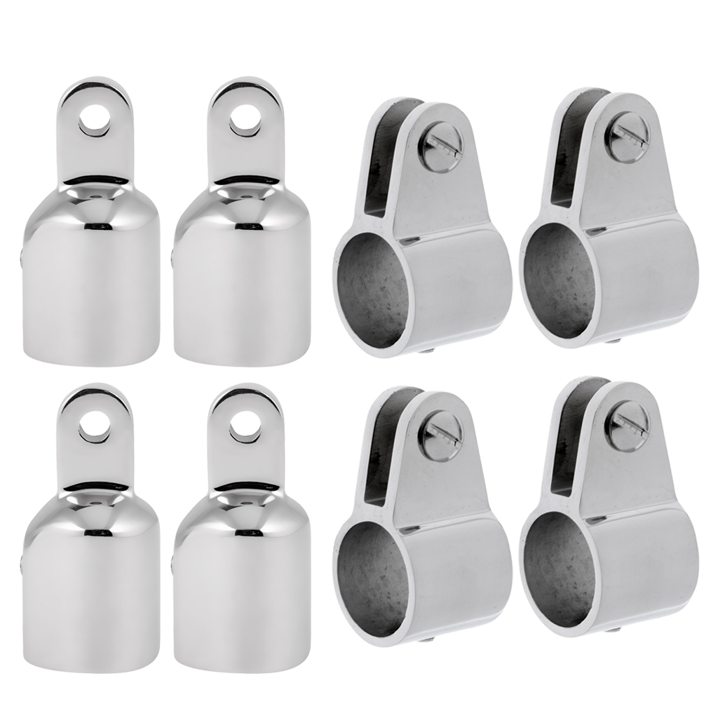 "4 Jaw Slide and 4 Eye End Stainless Steel Fittings Hardware Set 1/"" 8 Pieces"
