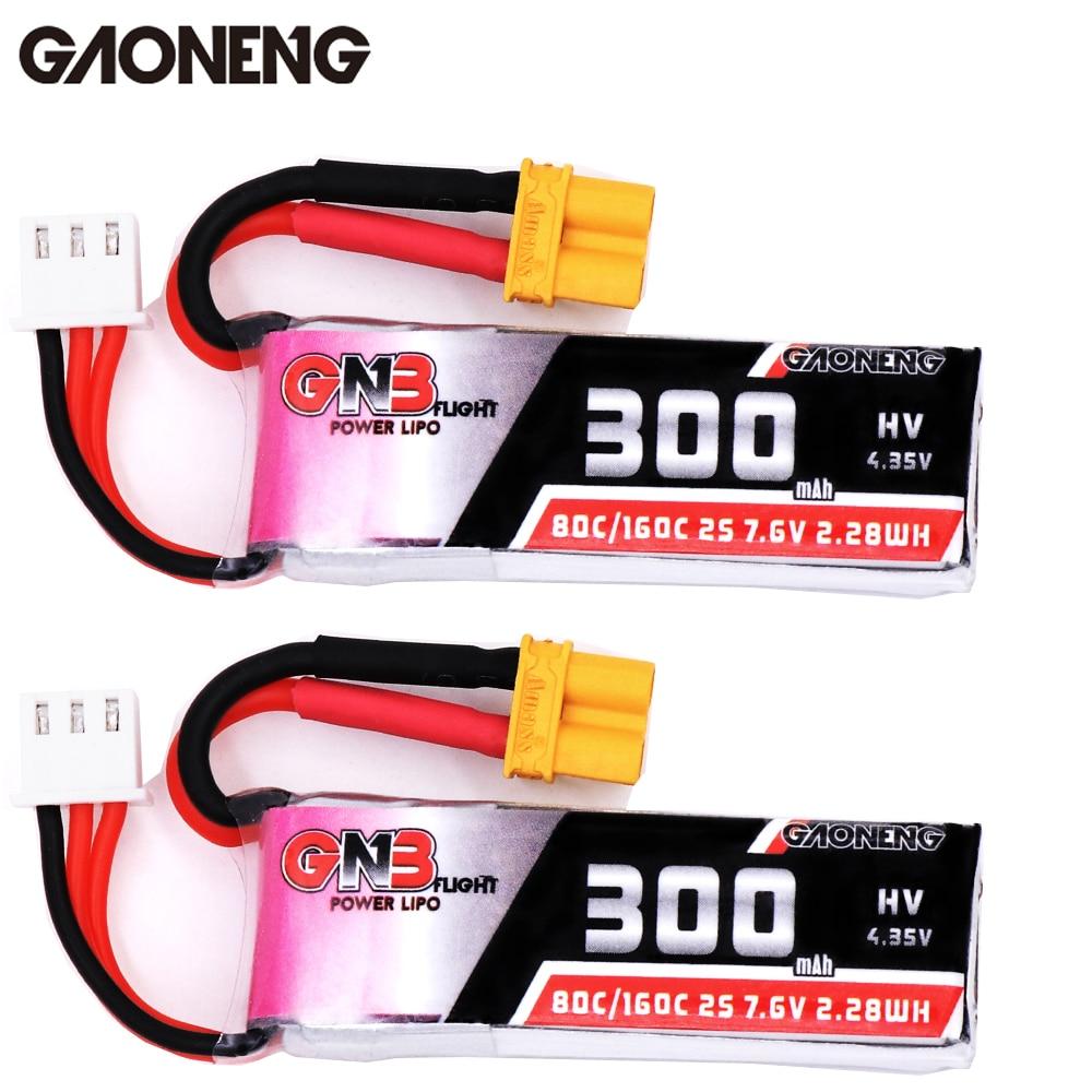 Gaoneng GNB 300mAh 3,8 V 7,6 V 30C 80C1S 2 HV 4,35 V XT30 Lipo batería para Micro RC FPV Racing Cine Whoop BetaFPV Drone Quadcoper