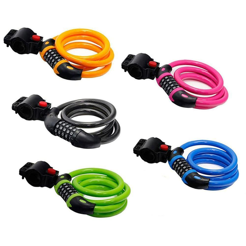 Bike Lock Anti-theft Colorful Code Type Lock For Motorcycle Mountain Toolboxes Bicycle Electric Equipment Car Sports Scoote R5Q7