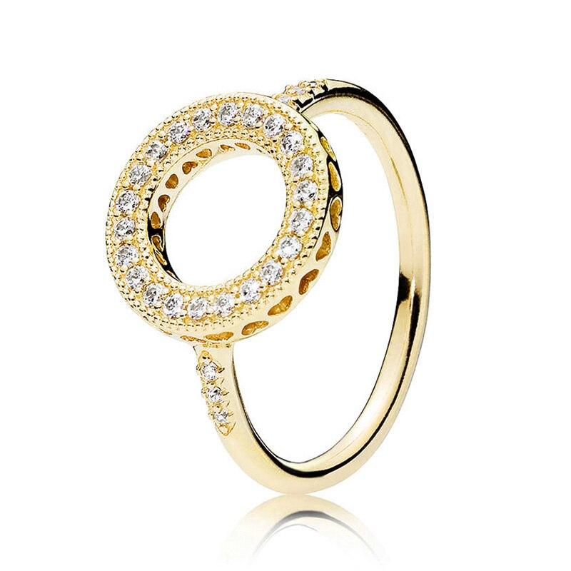 Кольцо на палец в форме сердечко серебряного цвета для женщин, европейская оригинальная Корона, изящные кольца на палец, свадебные украшения, 50 стилей, Прямая поставка - Цвет основного камня: Rings 004