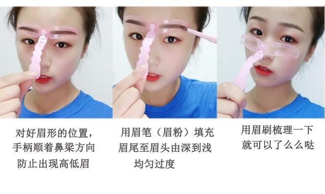 8pcs/set Eyebrow Mold Eyebrow Stencils Shaping Grooming Eye Brow Make Up Model Template Reusable Design Eyebrows Styling Tool 5