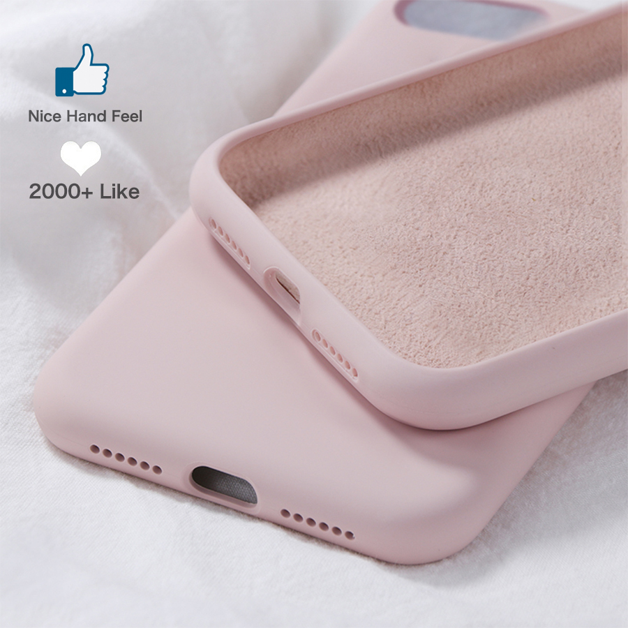 Soft Liquid Silicone Case for Xiaomi Redmi K20 7 7a 8a Note 7 8 Xiomi Mi 9 8 Pro Se A3 A2 Lite 9t Cc9 6x Mix 2 2s Original Cover image