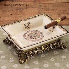 Cigarette Ashtray Tobacco Home-Decor Retro Creative Personality Fashion Ceramic Ornaments