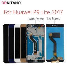 DRKITANO תצוגה עבור Huawei P9 לייט 2017 LCD תצוגת מסך מגע Digitizer עבור Huawei P9 לייט 2017 LCD עם מסגרת PRA LX1