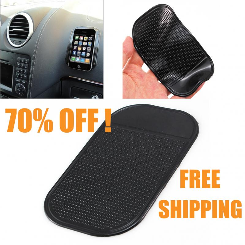 1Pcs Universal Car Non Slip Grip Dashboard Holder Mat Pad Storage Mat Phone GPS Car Black PVC Silicone Mat Accessories
