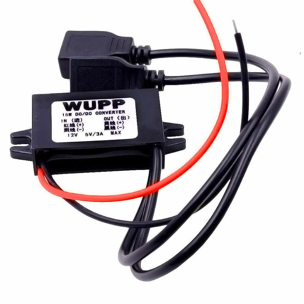 Xe Thuyền Xe Máy USB Sạc 12V Đến 5V 3A Adaptateur Alimentation GPS Cấp Nguồn Cổng Ổ Cắm Sạc chống Thấm Nước 104