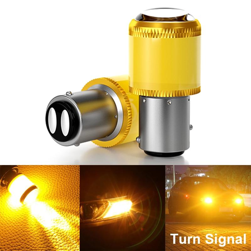 2X Bright BA15S P21W 1156 LED Car Turn Signal Light 1156 PY21W BAU15S 2835 9SMD Auto Tail Brake Light Reversing Lamp Fog Light