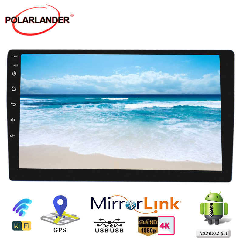 """Autoradio 2 Din Autoradio 10 """"lecteur MP5 pour Android 9.1 multimédia WIFI GPS Navi Mirrorlink magnétophone voiture Audio Bluetooth"""
