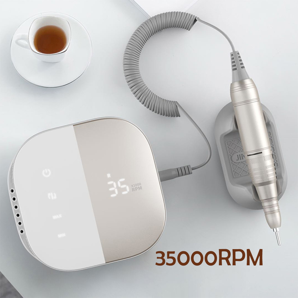 New Design Nail Drill 35000 RPM Electric Nail File HD Display Metal Manicre Machine for Nail Art Equipment Nail Sander