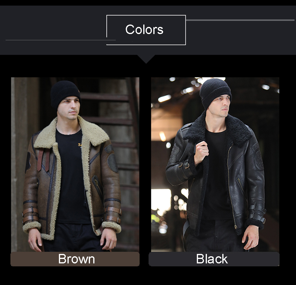 H9e432bbe51dc40a590419952a277022as 2019 Fashion 100% Quality Real Sheepskin Fur Men Coat Genuine Full Pelt Sheep Shearling Male Winter Jacket Brown Men Fur Outwear