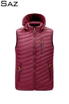 Saz Men's Lightweight Down Vest Insulated Winter Puffer Coat