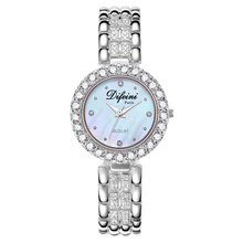 Difini negócios senhoras relógio diamante à prova dwaterproof água relógio de quartzo presente de aniversário feminino novo relógio feminino casual moda