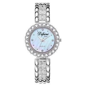 Image 1 - Часы Difini женские кварцевые, деловые водонепроницаемые повседневные модные, с бриллиантами, подарок на день рождения