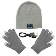 Wireless Bluetooth Music Hat Cap Bluetooth Earphone Headphone Headset Speaker with Mic Sport Knitted Hats warm Christmas Gift