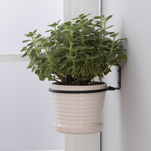 3pcs Garde Flower Pot Trays  Wall Mounted Folding Metal Pot Ring Holder Flower Planter Tray Stand Flower Pot Balcony