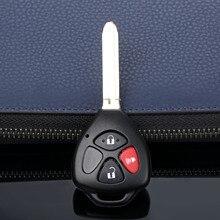 Carcasa de la llave a distancia del coche con 3 botones compatible con Toyota RAV4 Yaris Venza Matrix Scion tc xA xb xd hoja sin cortar Reemplazo automático