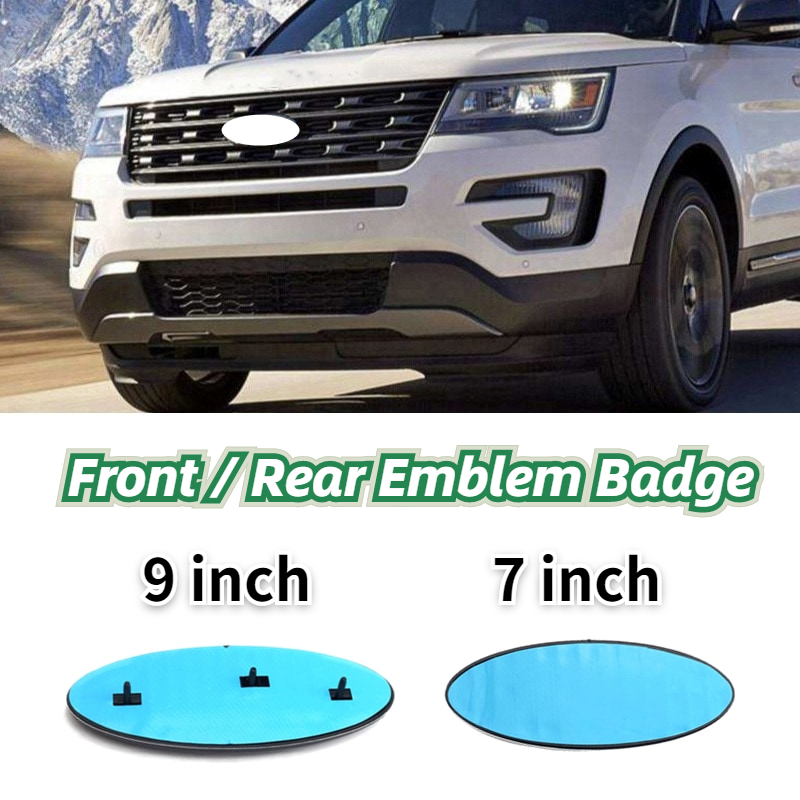 9 Inch   7 Inch Car Styling Front Hood Bonnet Emblem Badge Rear Trunk Sticker For Ford Skull Logo F150 F250 Explorer Accessories