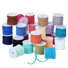 3 мм 4 5 м/рулон смешанные цвета замшевый плетеный шнур «сделай