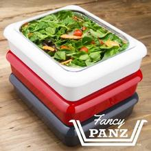 2-In-1 Portable Tin Foil Tray Pan Baking Carrier Casserole Takeout Use Fits Half Size Tools PP Stay Cool